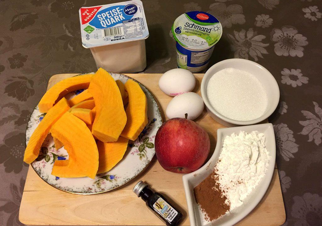 Zutaten für die Kürbisfüllung und die Käsecreme