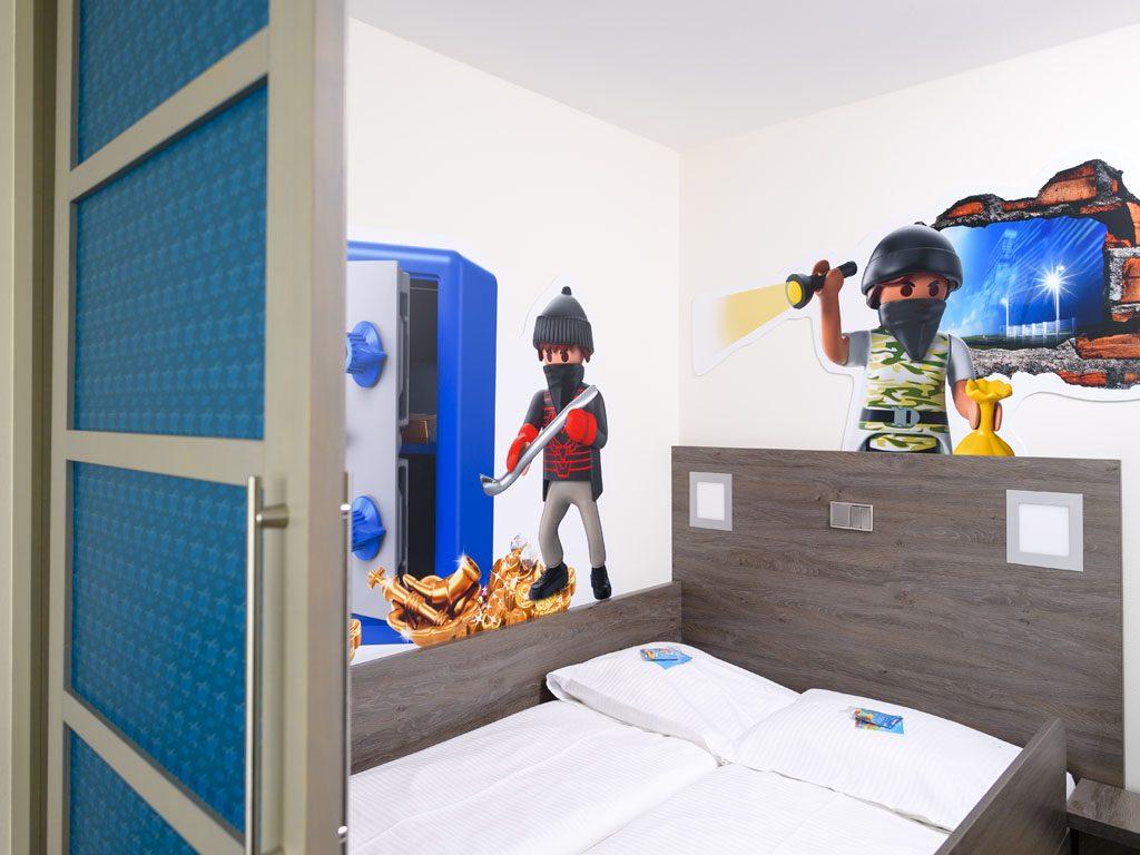 Kinderreich mit einem Doppelbett