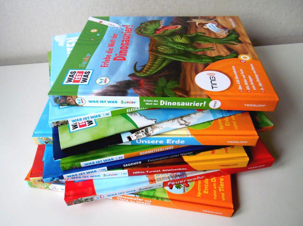 Viele verschiedenen Bücher aus dem Hause Tessloff