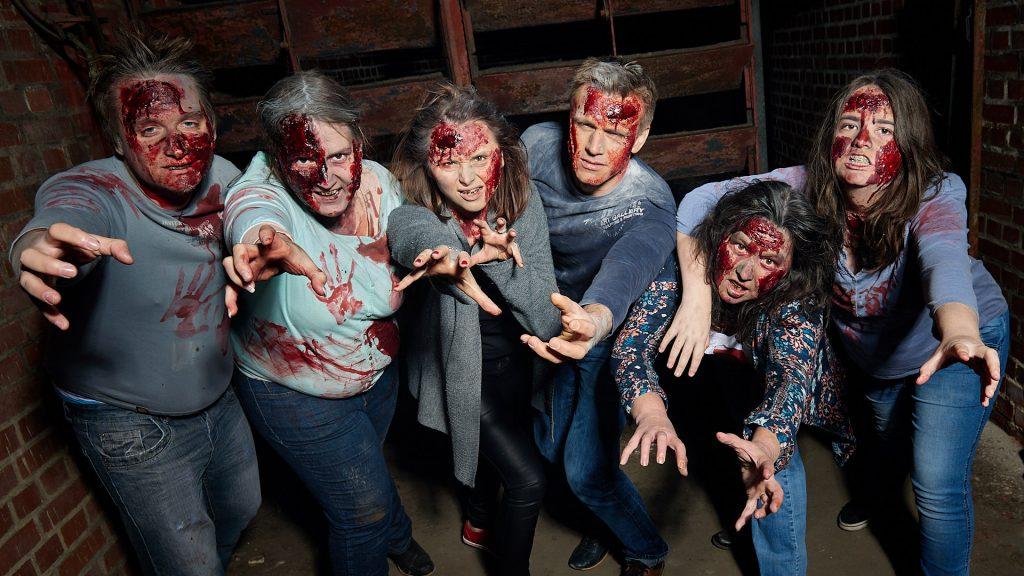 die Zombies sind frei und sehen richtig gruselig aus.