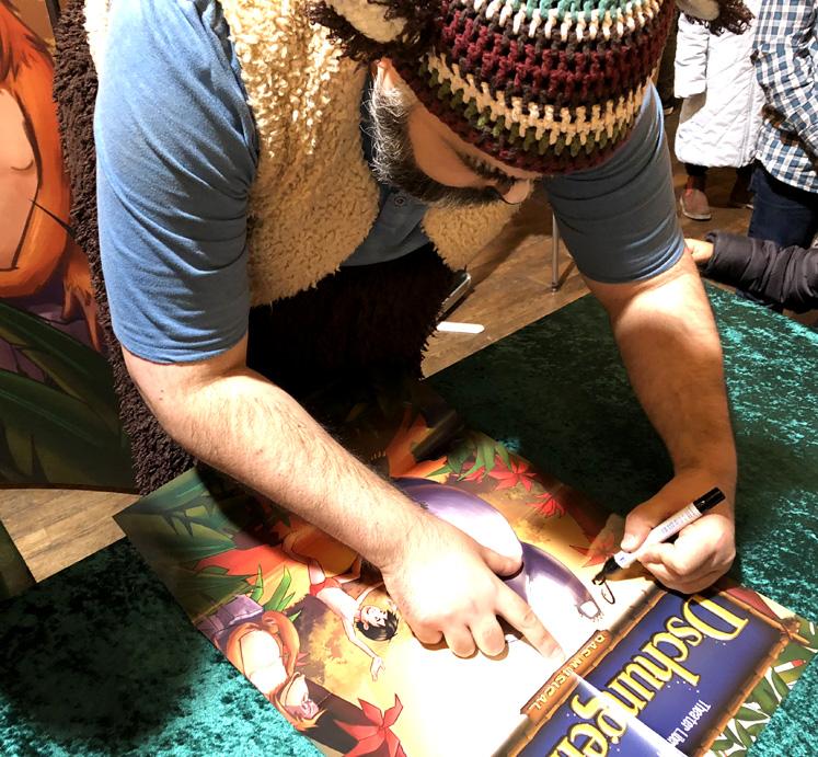 Dschungelbuch - Balu schreibt Autogramm