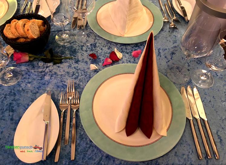 Culinartheater - gedeckter Tisch