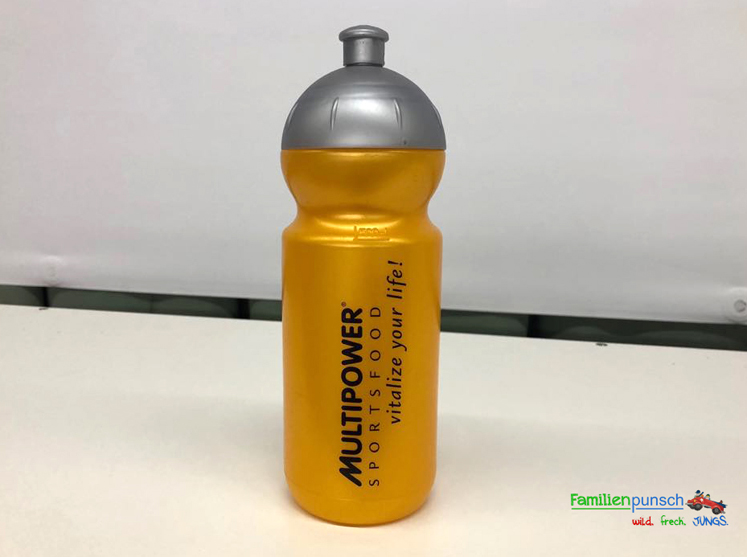 Kindergeburtstag - goldene Trinkflasche
