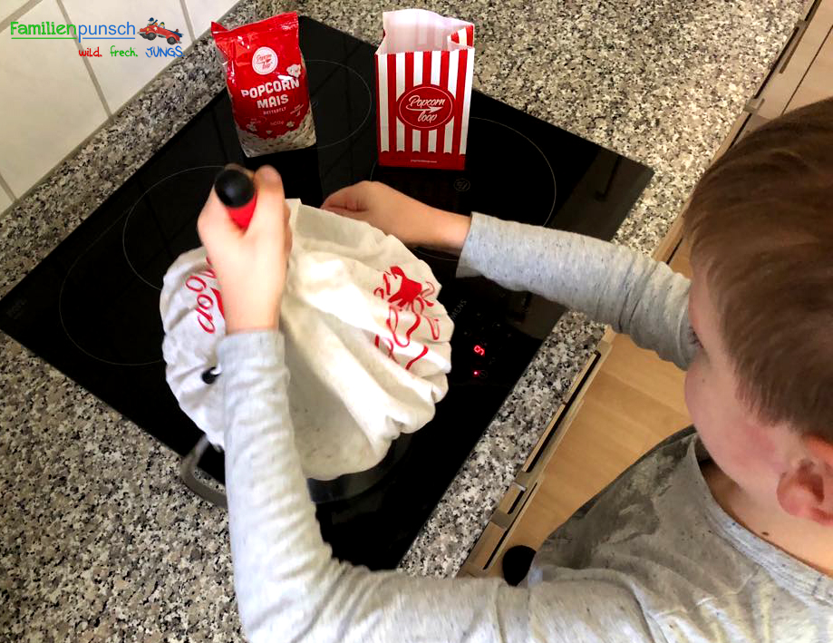 Popcornloop - kräftig umrühren
