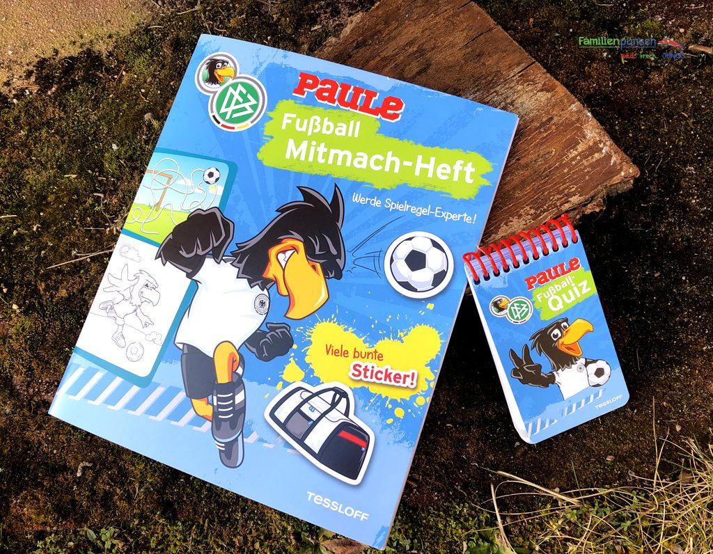 Fußball - Mitmach-Heft und Rätselblock in Blau