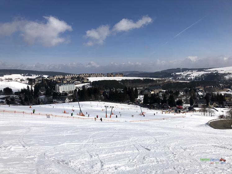 Am Fichtelberg Ausblick von der Aussichtsplatforme