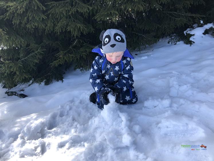 Am Fichtelberg Schneemann bauen