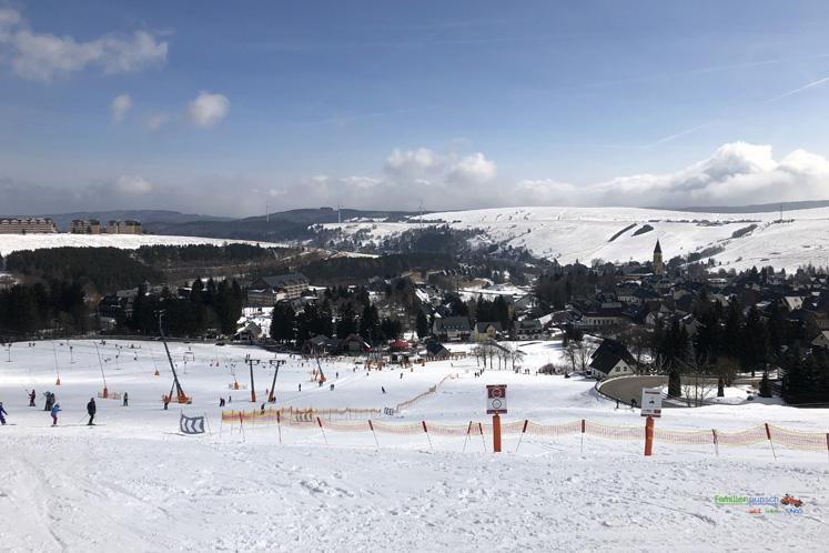 Am Fichtelberg Skipiste im Oberwiesenthal