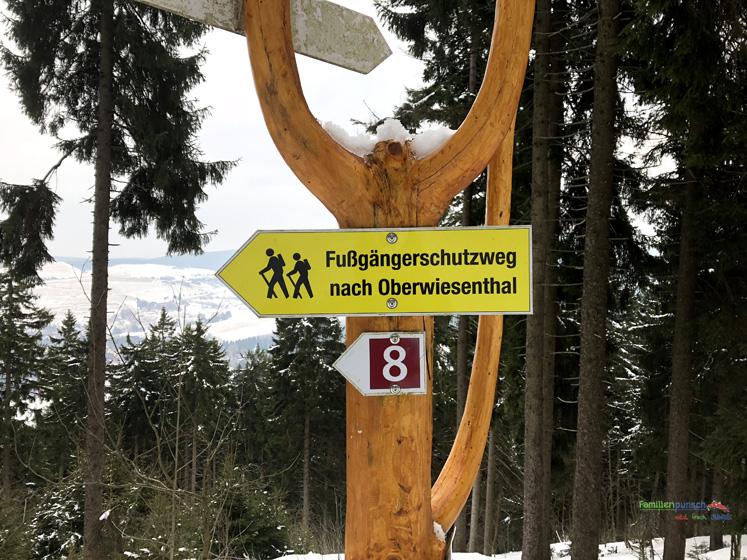 Am Fichtelberg Wanderweg nach Oberwiesenthal