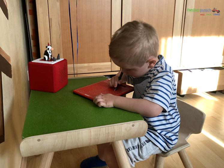 PlanToys Kindertisch- und Kinderstuhlset - neuer Lieblingsplatz