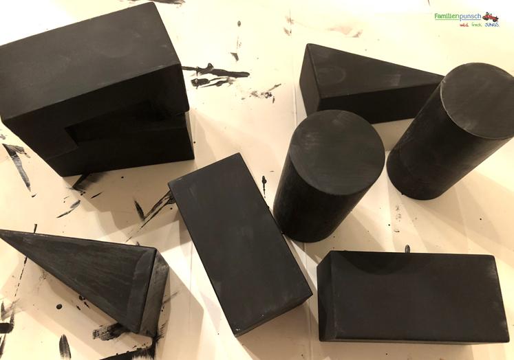 Bausteine - die erste Schicht trocken