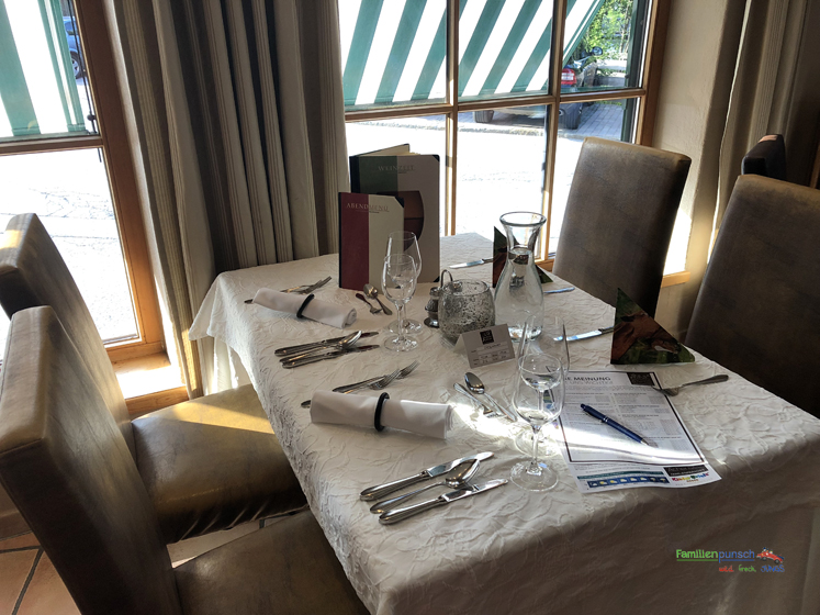 Familienparadies Sporthotel Achensee - Unser Tisch
