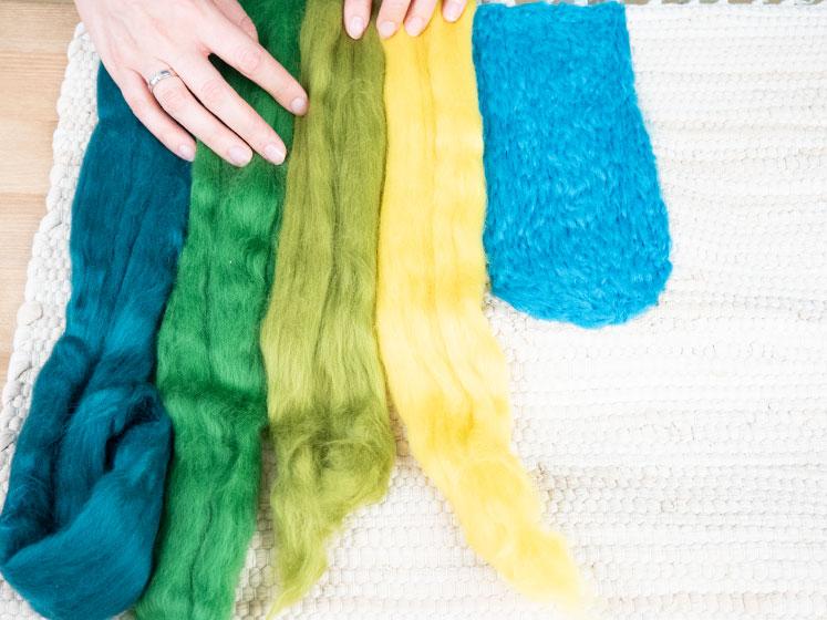 Regenbogen Wandteppich - Weitere Farben anordnen