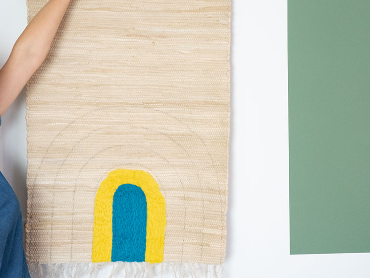 Regenbogen Wandteppich - So wirkt der Teppich