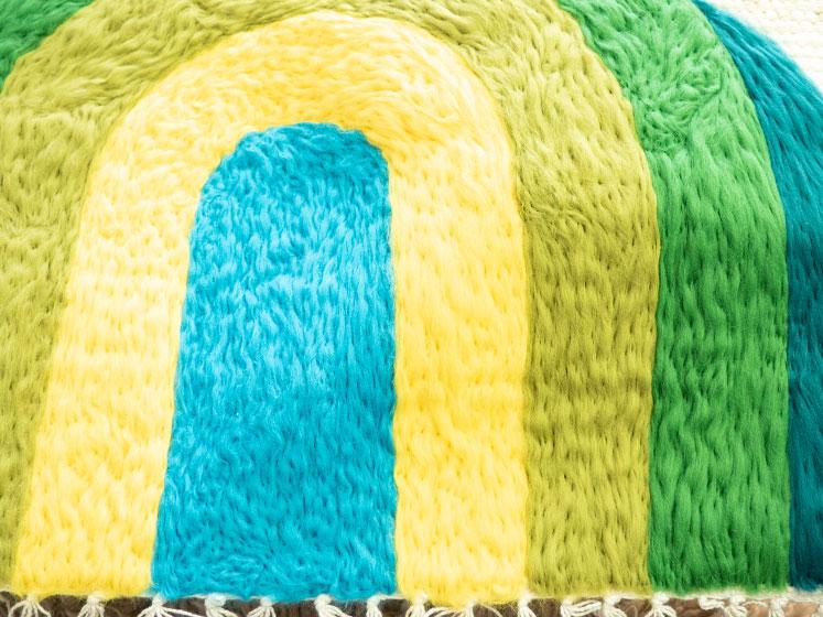 Regenbogen Wandteppich - Fertig gefilzt