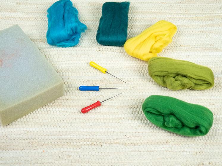 Regenbogen Wandteppich - Materialien