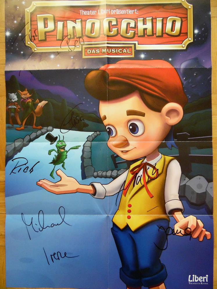 Pinocchio – Plakat als Erinnerung