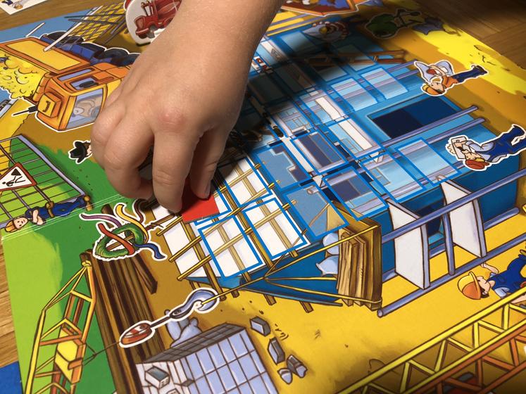 Spiele für den Herbst - Kärtchen ablegen - Das große Baustellen Spiel