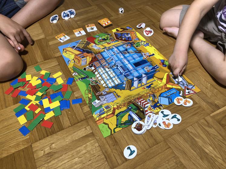Spiele für den Herbst - am Zug sein - Das große Baustellen Spiel