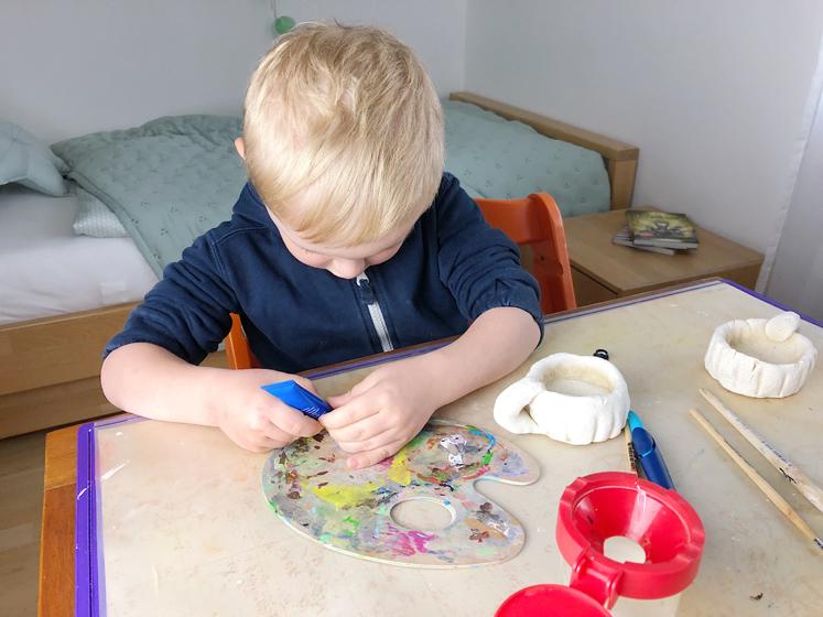 Werkbuch für Kinder - Farbe vorbereiten