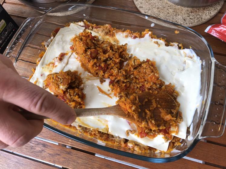 Kürbis-Lasagne - Gemüse