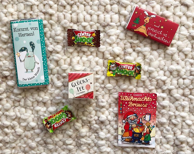 Geschenkideen für den Adventskalender Schokolade
